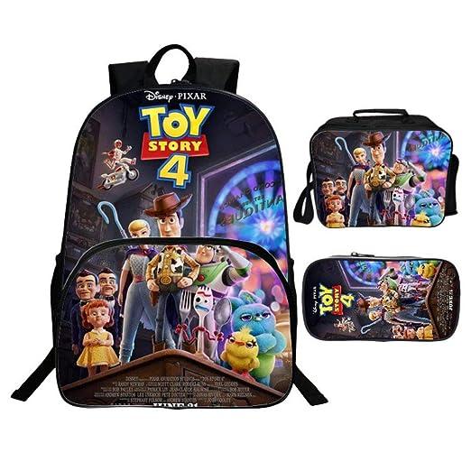 WSED Mochila para niños 3D Toy Story 4 Mochila De Tres ...