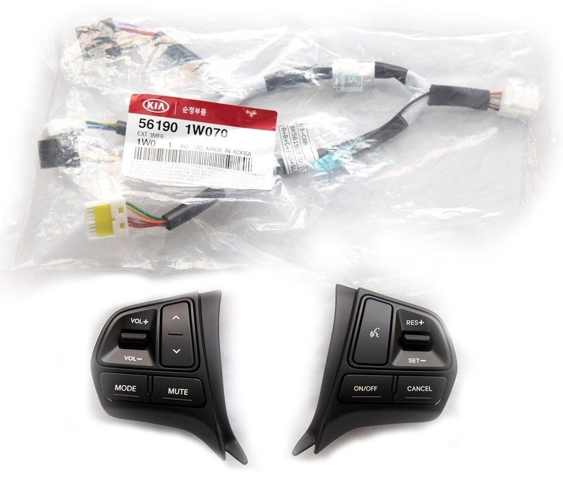Kia Motors Oem Genuine Steering Wheel Control Switch 1p Wiring For 2005 Sorento Heater System Auto Cruise Extension Wire Cable Set 2012 2014 Rio All New Pride