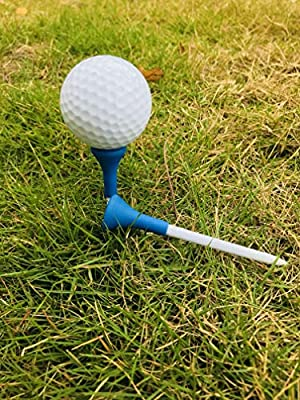 thf Plastic Golf tees with Soft Rubber Cover 3 1/4 83mm Pack of 50 Almost Unbreakable by BAI SHI TE