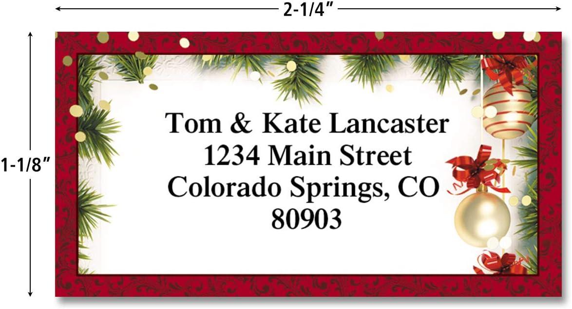 Christmas Customized Label B22029 Peace and Joy Personalized Return Address Label