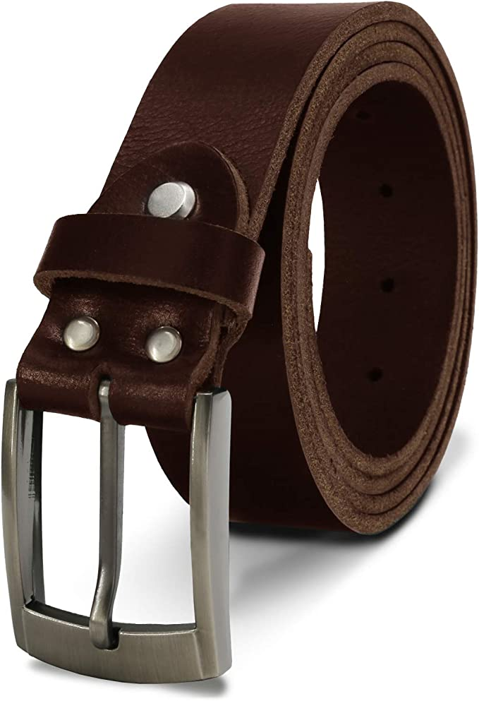Echt Leder Gürtel Herren Damen Ledergürtel 2cm breit Büffelleder Schnalle Neu