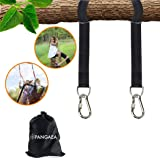 Tree Swing Hanging Straps Kit, Heavy Duty Holds 2200LBS 5FT Extra Long, with Safer Lock Snap Carabiners & Carry Pouch…
