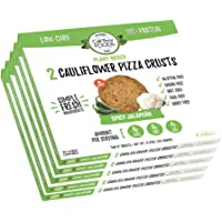 Cali'flour Foods Paleo Plant-Based Cauliflower Pizza Crusts - Gluten & Dairy Free, Vegan - Spicy Jalapeño (10 Total Crusts, 2 Per Box)