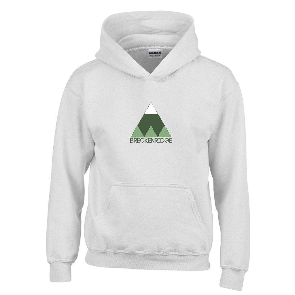 Breckenridge Minimal Mountain Youth Hoodie Colorado Kids Sweatshirt