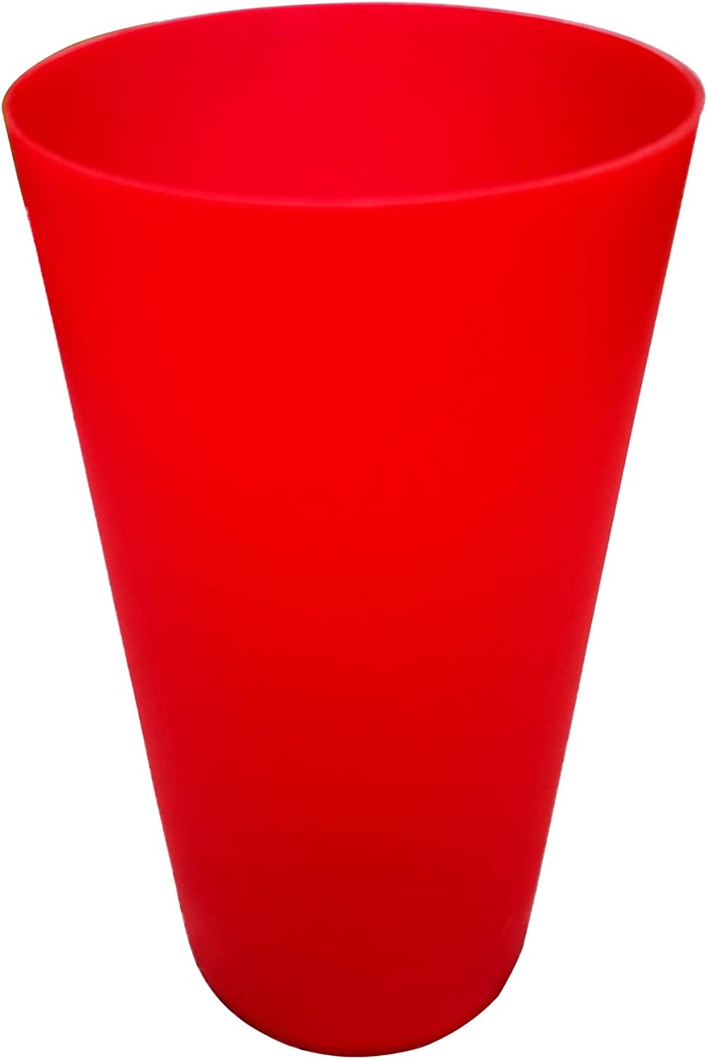 32-ounce Plastic Tumblers sets, BPA-free Reusable Kids Drinking Cups For Kitchen Home Party Holiday Indoor Outdoor Use set of 12 (Red)