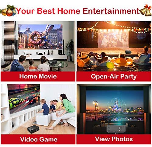 Proyectores, WiMiUS Video Proyector 4000 Lúmenes Soporta Full HD 1080P Proyector LED 50000 Horas Proyector HD con 200