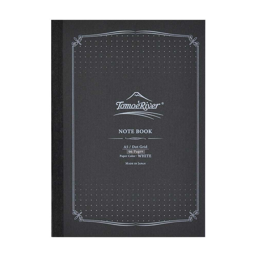 Tomoe River FP Notebook, 5.85'' x 8.27'', 96 pages (48-Sheet), Dot Grid, White (TMR-A5NB-DW)