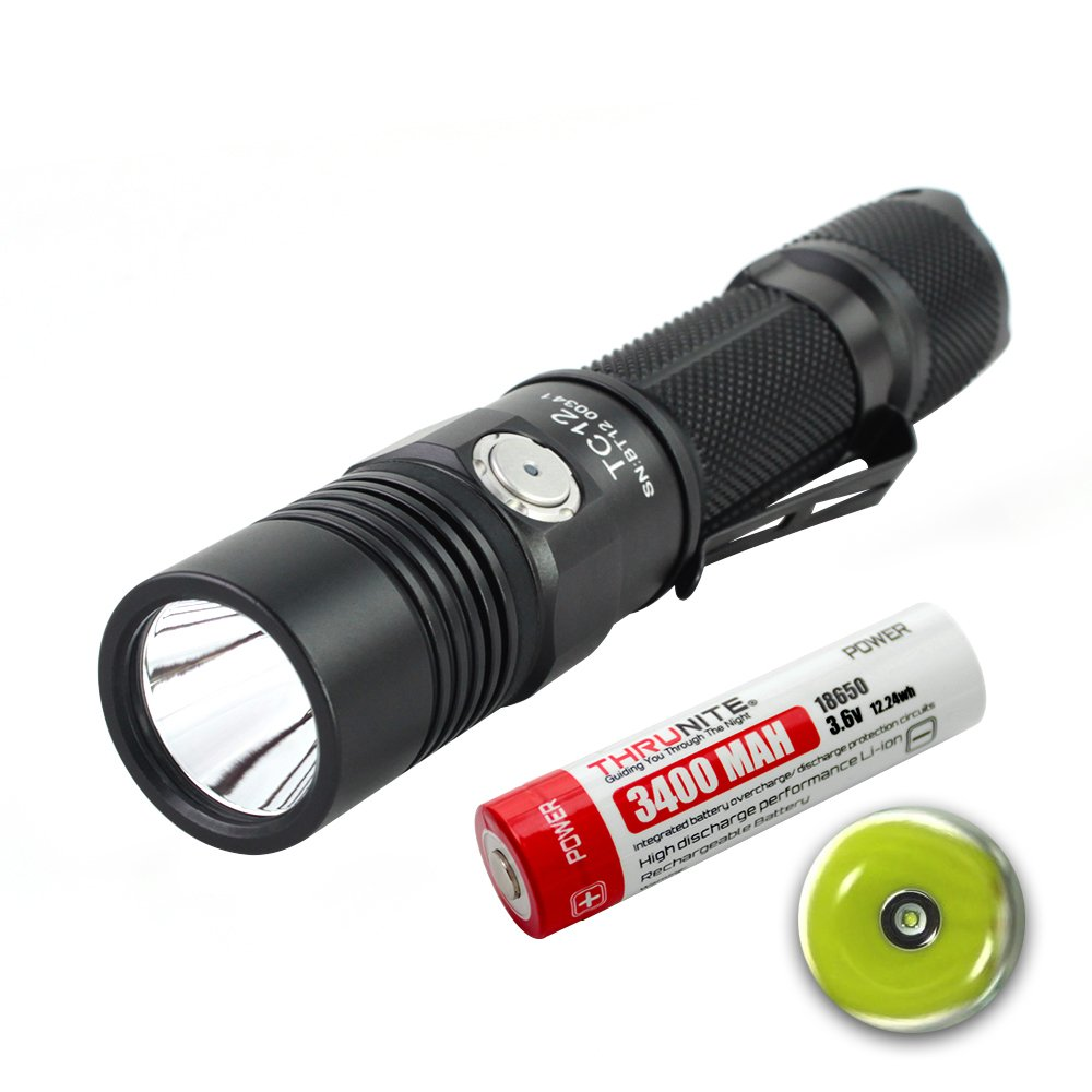 ThruNite TC12 Micro-USB Interface Rechargeable Tactical LED Flashlight(Battery Included) (TC12 NW)