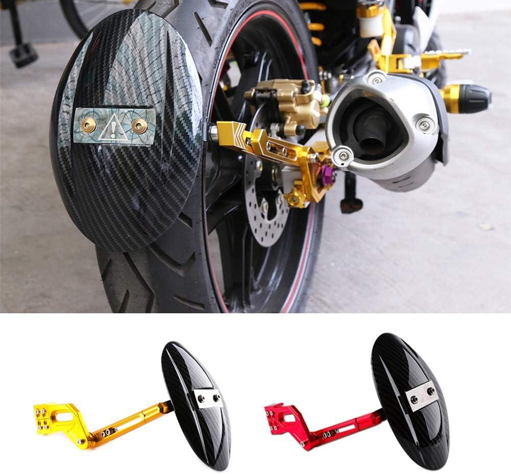 CIHXG Motorrad CNC Aluminiumlegierung Kohlefaser Hinterrad Reifen Schutzblech Halterung Kotfl/ügel F/ür Yamaha RC150 135 Kawasaki z125-200CC,A