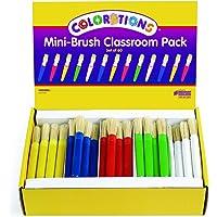 Colorations MINIBRU Mini-Brush Classroom Pack (Pack of 60)