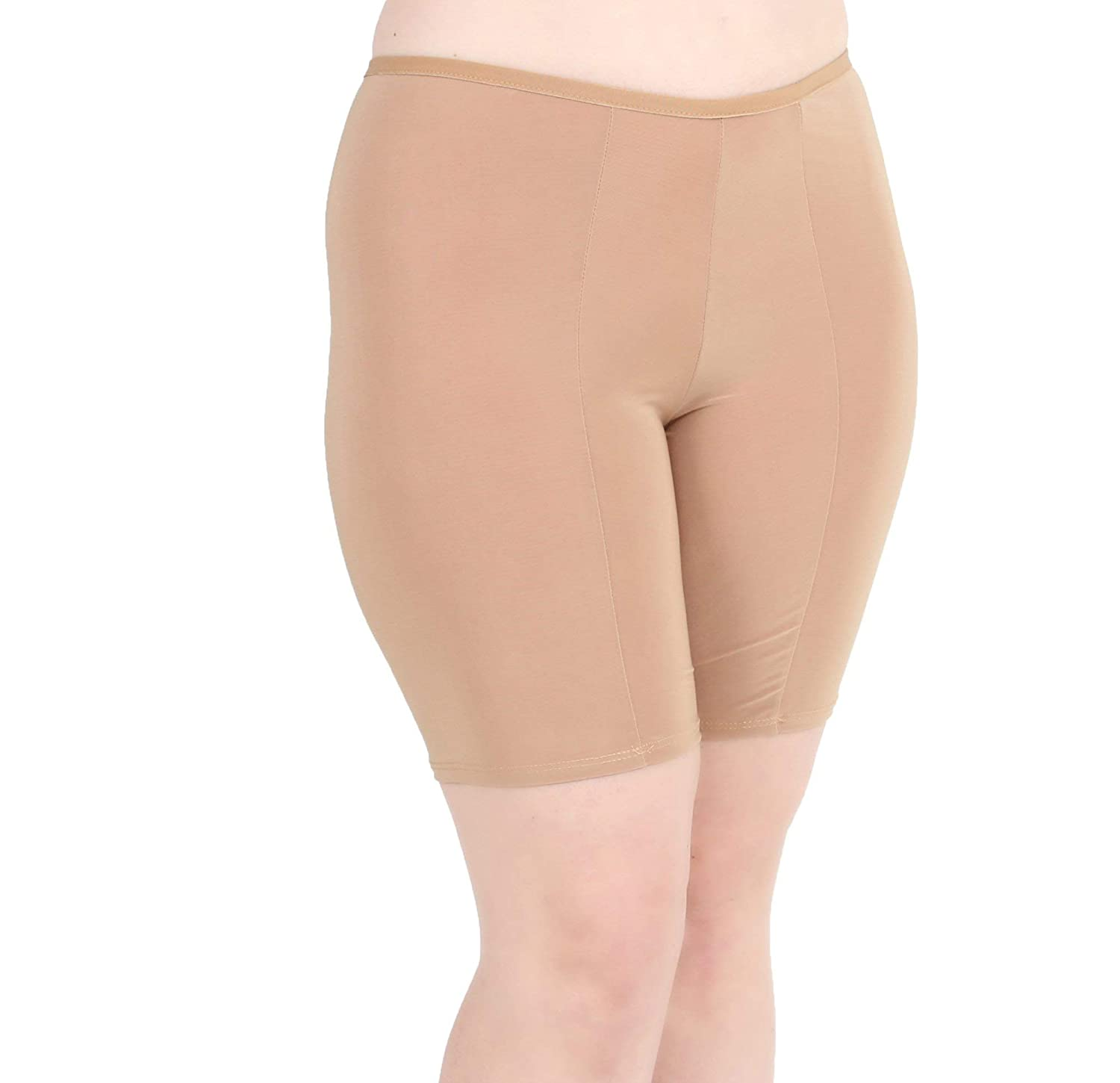 d5e80dd6d67 Undersummers Women s Ultrasoft Classic Slip Shorts  Prevent Thigh Chafing  with Stay-Put Mid-Thigh Length (S-4X) at Amazon Women s Clothing store