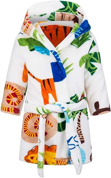 Oferta amazon: Taigood Albornoz niños niñas con Capucha Batas niño Suave Pijamas Ropa de Dormir niños Talla 2-3 años