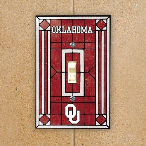 The Memory Company Oklahoma Sooners - NCAA Art Glass Single Switch Plate Cover