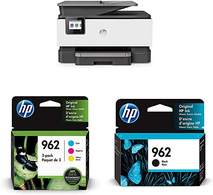 HP OfficeJet Pro 9015 All-in-One Wireless Printer (1KR42A) with Ink-Cartridges - 4 Colors