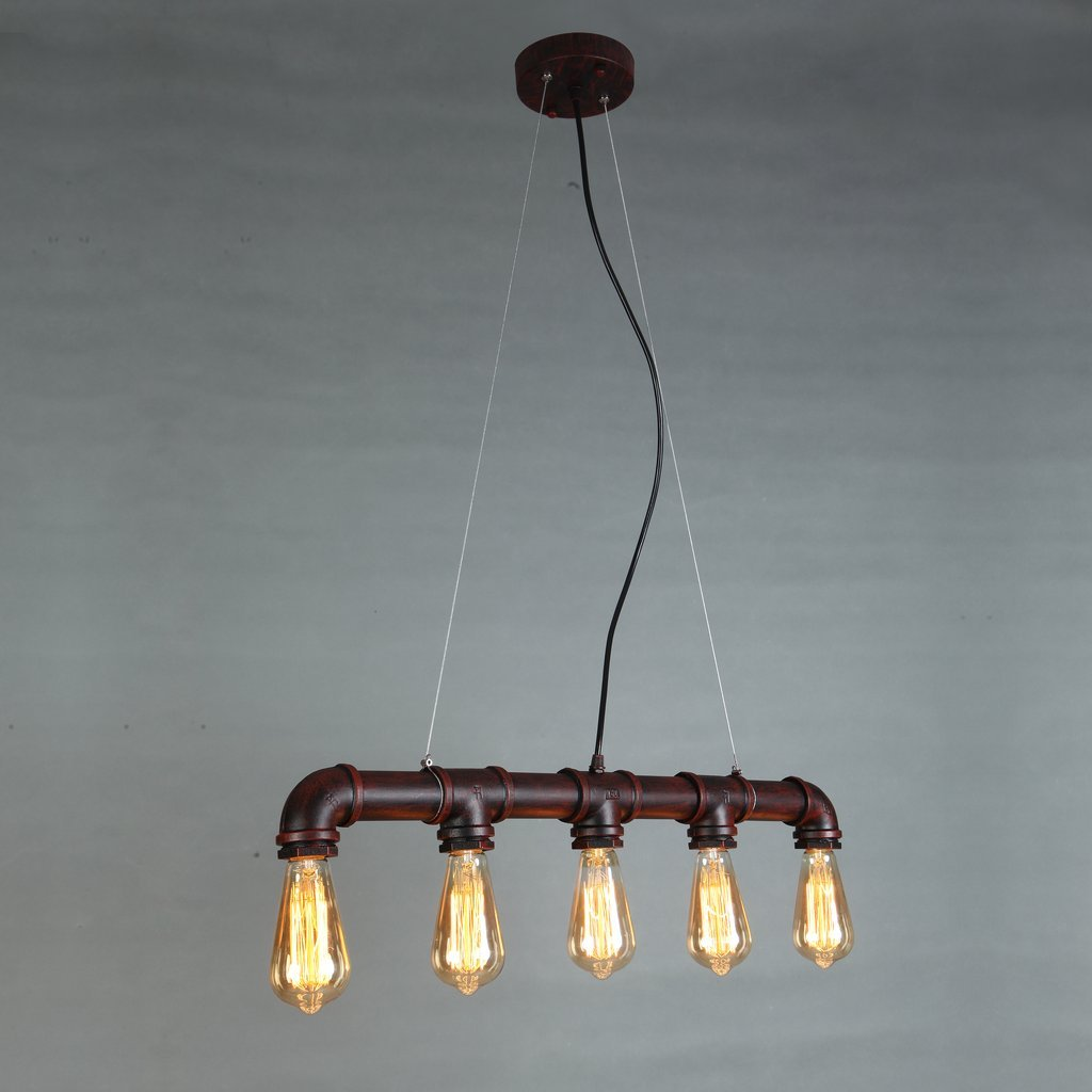 lights steampunk mklot ceiling hanging flush semi amazon dp mount industrial wrought pendant vintage with fixture iron metal light com chandelier