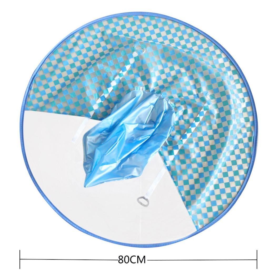Raincoats for Women and Men, Iuhan Adults Raincoat Plaid UFO Raincoat  Packable Children's Hooded Poncho Cloak (S, Blue) - - Amazon.com