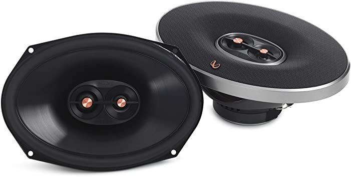 """Infinity PR9613IS 6X9/"""" 270 watts Max Power 3-Way Primus Series Coaxial Car Audio Stereo Speaker With Edge-Driven Textile Tweeters Free Alphasonik Earbuds"""