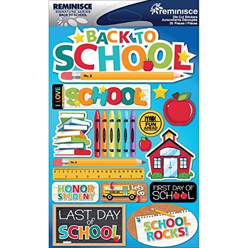Reminisce RSD-2-219 Signature Dimensional Stickers Sheet, 4.5 by 6-Inch, Back to School