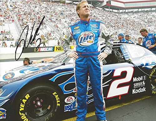 AUTOGRAPHED 2005 Rusty Wallace #2 Miller Lite Flames Racing LAST CALL RETIREMENT (Bristol Motor Speedway) Team Penske Signed Collectible Picture NASCAR 9X11 Inch Glossy Photo with COA