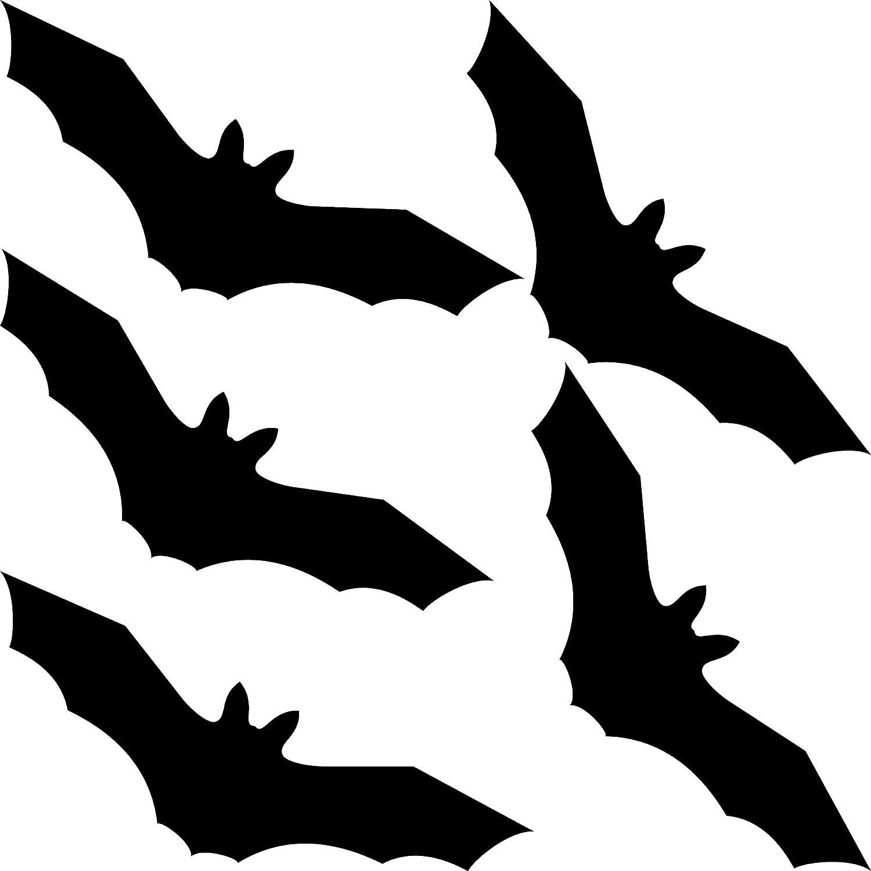 Greenit 5 Stück 20cm Fledermaus Schwarz Aufkleber Tattoo Vogel Warnvögel Fenster Schutz Deko Folie Auto