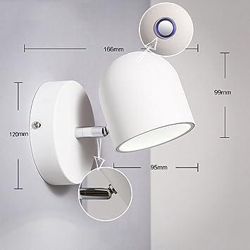 Scandinavian Modernen Minimalistischen Wohnzimmer Esszimmer,  Schmiedeeisen Wandlampe Schlafzimmer Nacht Ankleide Wandleuchte (Zehn Arten