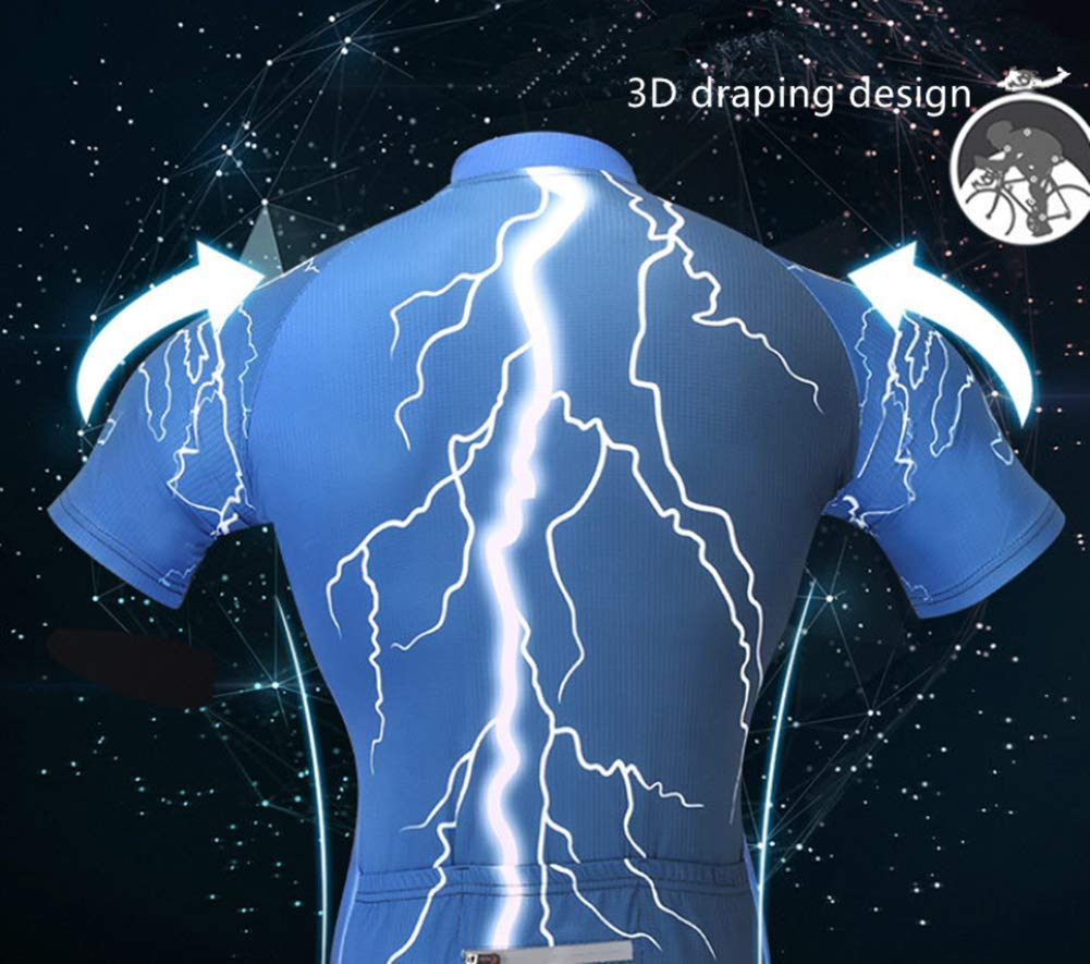 Mens Cycling Jersey Set Reflective Quick-Dry Biking Shirt Comfortable Short Sleeve Shorts Silicone Cushion Professional Design Mountain Bike//Long-Distance Ride red,2XL