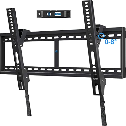 Mounting Dream Tilt TV Mount for 42-84 Inch Flat Screen TVs, Tilting TV Wall Mount Fits 16 24 32 Wood Studs, Low Profile Wall Mount TV Bracket for TVs with VESA 800x400mm, Holds up to 132 LBS, Blac