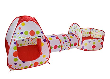 Kids Play Tent Tunnel Set3 in 1 Children Baby Play House Tent Ball Pool  sc 1 st  Amazon.com & Amazon.com: Kids Play Tent Tunnel Set3 in 1 Children Baby Play ...