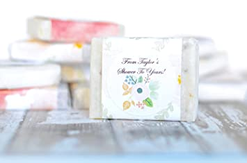 Personalized Mini Sample Size 24 Pcs Guest Soap Favors For Bridal Shower Wedding Baby Shower