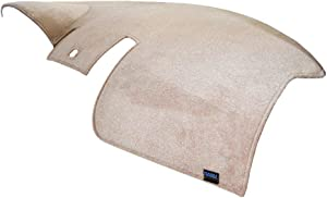 Dash Designs D0666-0VTP Taupe Plush Velour Dash Cover