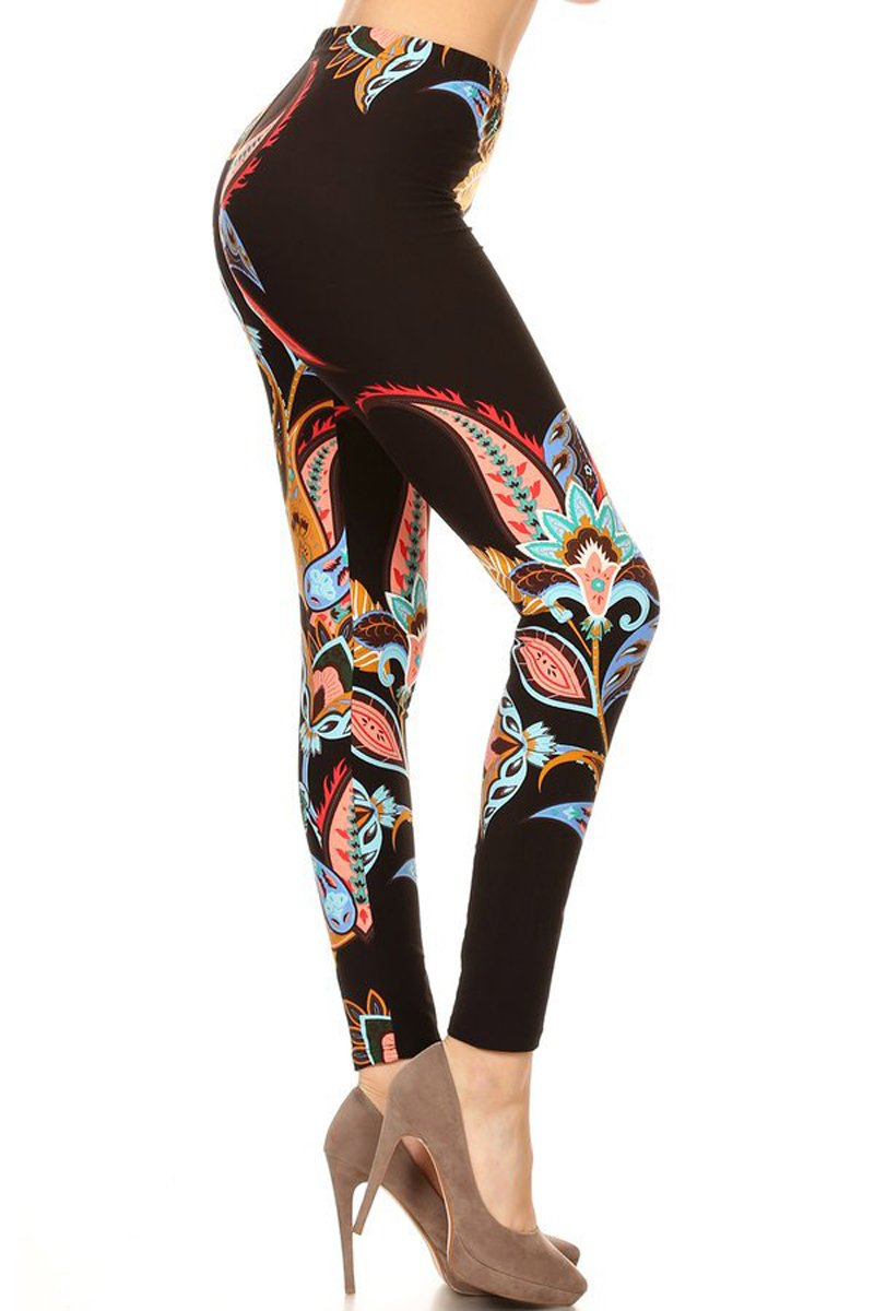 Print Leggings Midnight Floral (R794-OS)