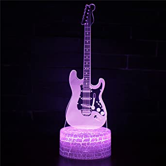 Luz de la noche, Styling de la guitarra eléctrica Luces llevadas coloridas del plug-