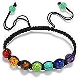 Yesiidor 7 Chakra Bracelet Reiki Rainbow Quartz Bracelet Beads Bracelet Accessories Hand Necklace Jewelry