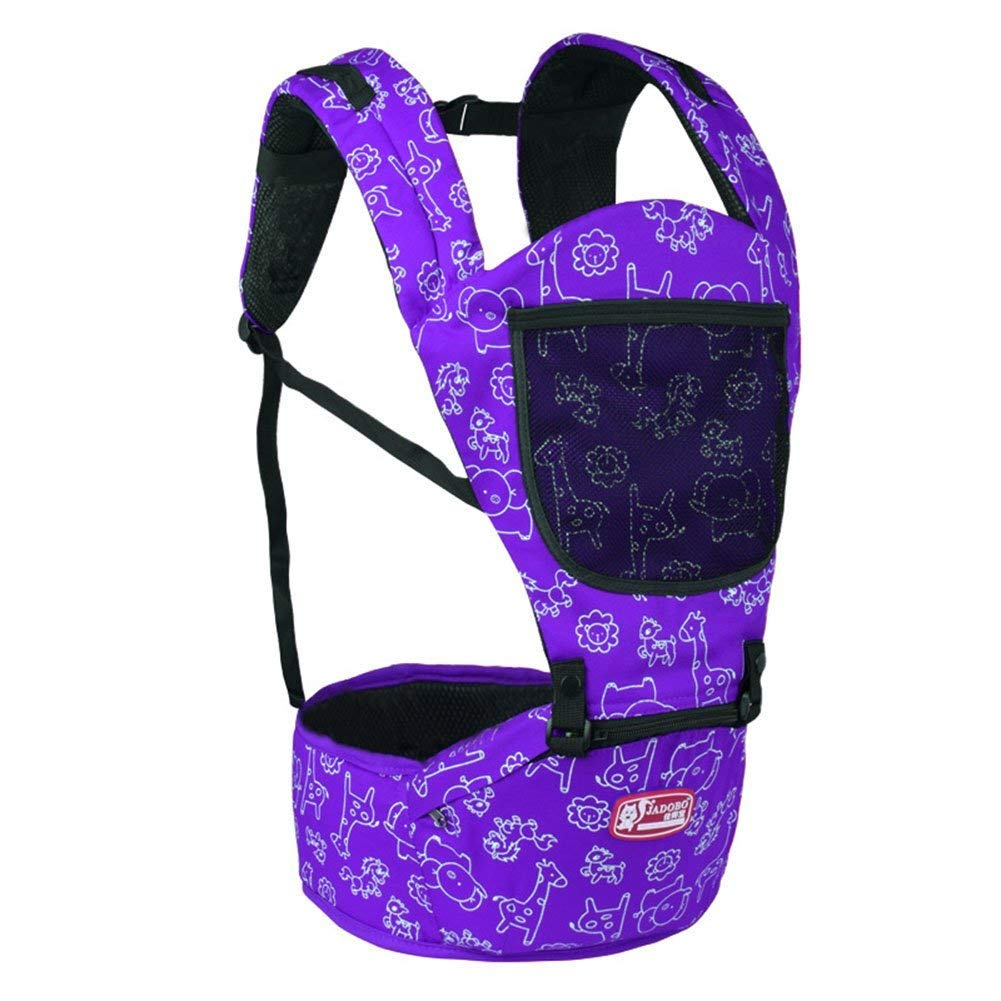 Front and Back Baby Harness Safety and Comfortable Seat Multifunctional Summer Breathable Baby Seat, Orange Backpack (Color: Purple) -Purple