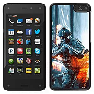 EJOY---Cubierta de la caja de protección la piel dura para el / Amazon Fire Phone / --BATTLEFILD SOLDADO