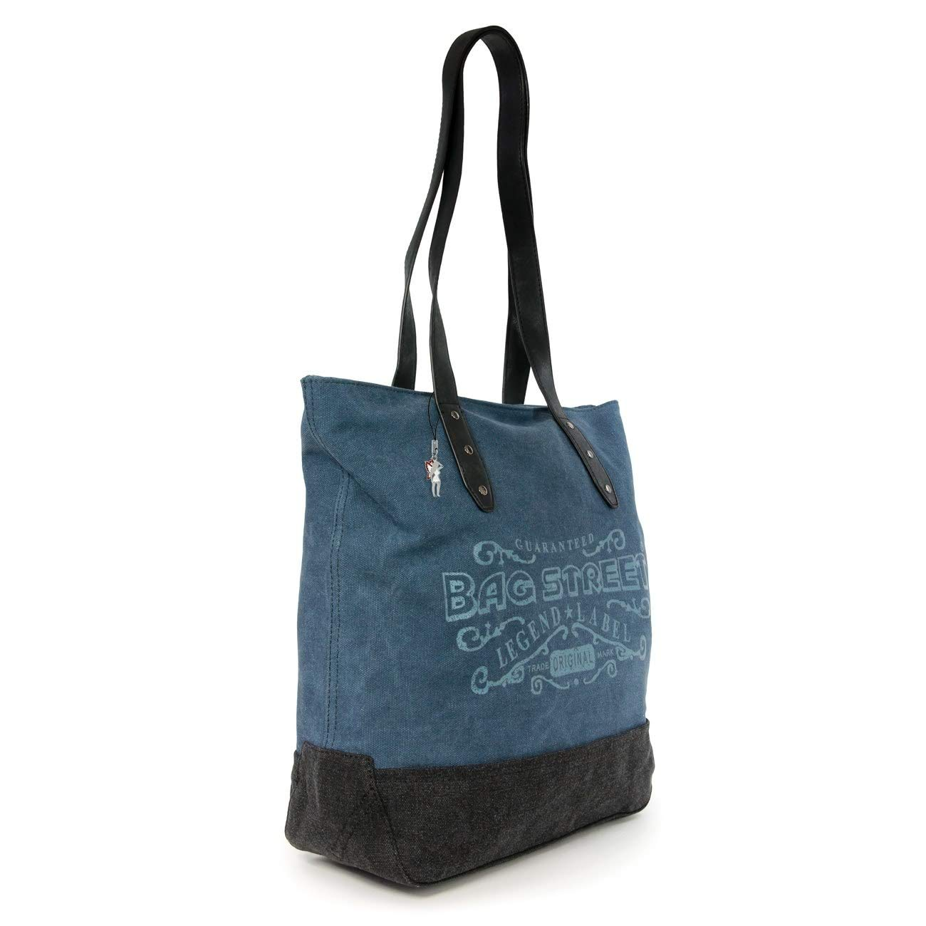 1a35c6ce9c246 imppac Beuteltasche navyblau Canvas Schultertasche Handtasche Bag Street  OTJ219B  Amazon.de  Schuhe   Handtaschen