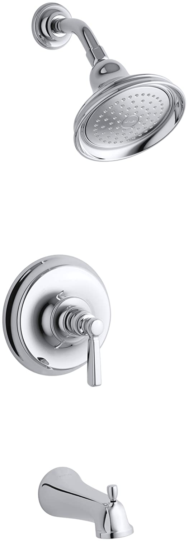 KOHLER K-T10581-4-BV Bancroft Rite-Temp Pressure-Balancing Bath and Shower Faucet Trim Vibrant Brushed Bronze