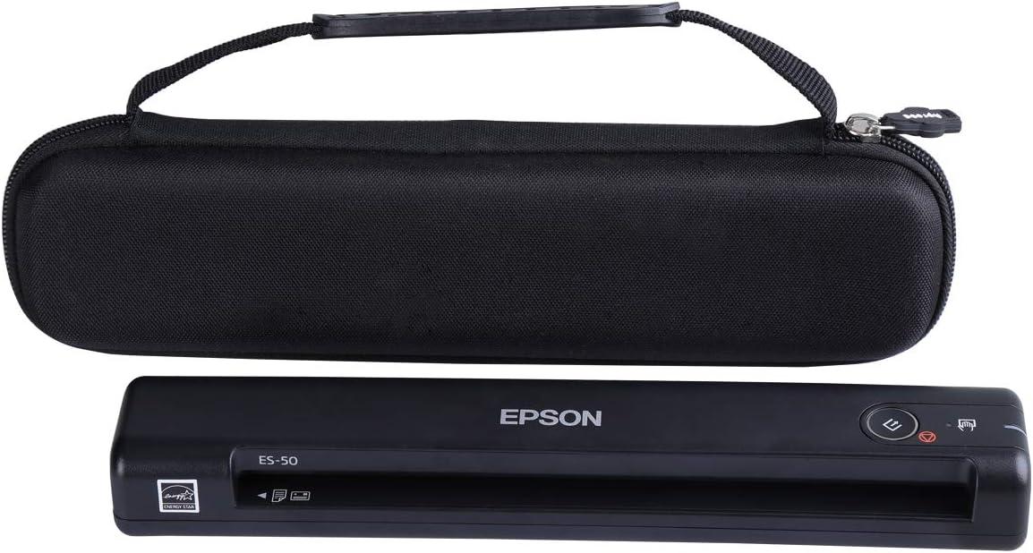 ES-55R ES-60W DS-30 DS-70 DS-80W Document Scanner Aproca Hard Carry Travel Case Fit Epson Workforce ES-50 ES-65WR