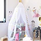 Dix-Rainbow Bed Canopy 7-Pieces Mesh Design Yarn