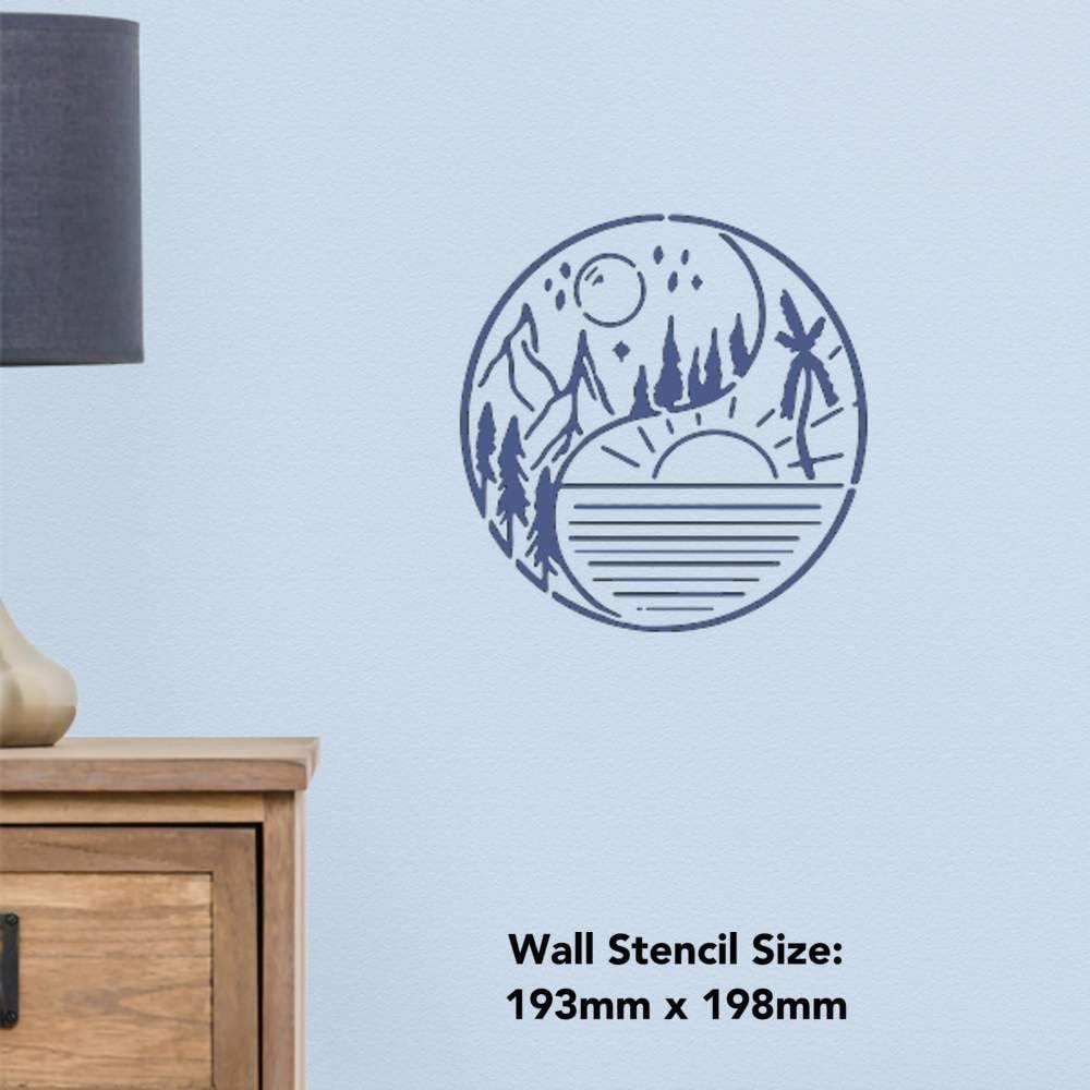 WS00032969 Grand A2 Yin Yang Ciel Pochoir Mural