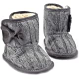 CoKate Baby Girl Knit Cotton Boots Infant Soft Snow Boots Socks Crib Shoes
