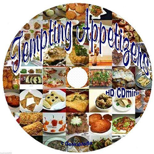 500 Tempting Tasty and Tantalizing Appetizer Recipes on cd easy hors d'oeuvres