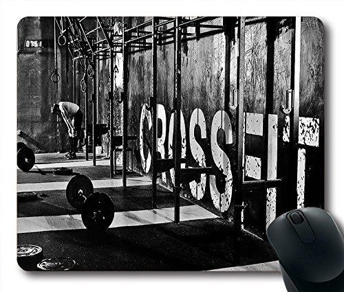 Price comparison product image Sports Crossfit Non-Slip Rubber Gaming Mouse Pad Size 9 Inch(220mm) X 7 Inch(180mm) X 1/8(3mm)