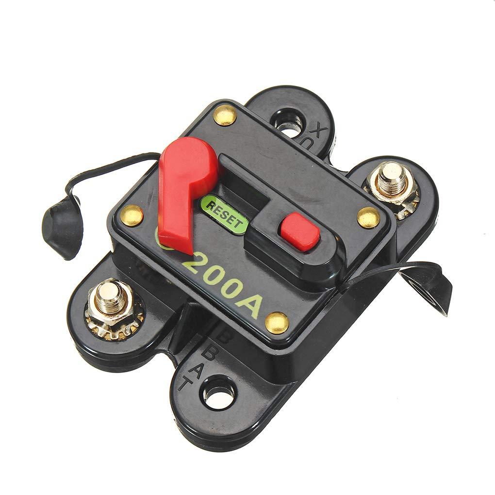 Lorsoul Boot Solar-Reset-Inline-Sicherung Schutz elektrische Ger/äte vor /überm/ä/ßigem Strom