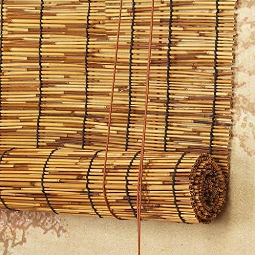 G&Y Tenda A Rullo in bambù, Cortina di bambù, Filtraggio della Luce - Traspirante/Impermeabile - Privacy, Decorazione Naturale, Marroni