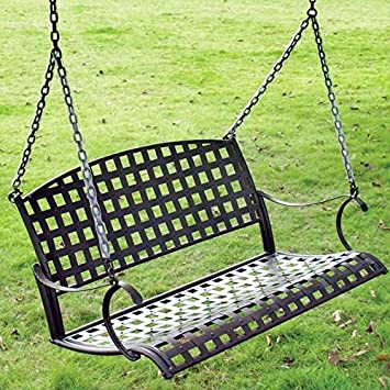 metal porch swing with canopy assembly instructions patio replacement parts international caravan iron rustic brown