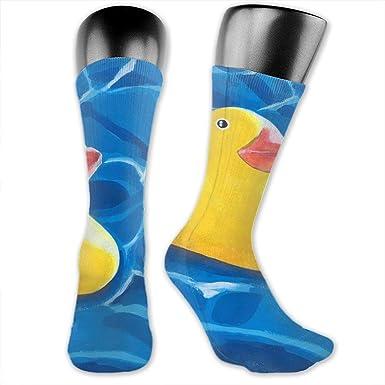 Calcetines de goma amarillos con diseño de pato de pintura ...