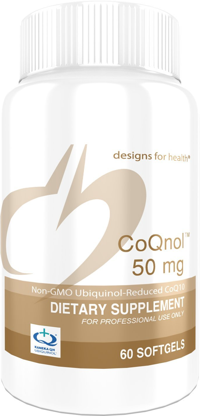 Designs for Health Ubiquinol (CoQ10) 50 Milligrams - CoQnol, Non-GMO + Reduced CoQ10 (60 Softgels)