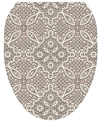 Toilet Tattoos, Toilet Seat Cover Decal, Crochet, Size Elongated