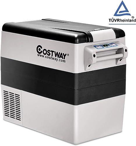 COSTWAY - Nevera portátil de compresión de 52 litros, Nevera ...
